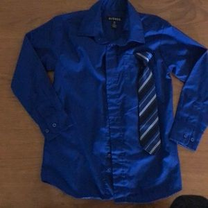 Boys L/S Dress Shirt and Tie Combo